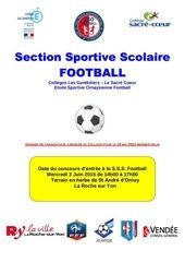 dossier de candidature ssl foot 2015 2016