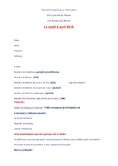 fiche d inscription du lundi 06 04 15