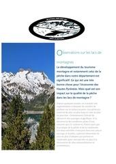 suite observation lacs de montagnes