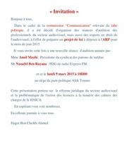 invitation 9 mars 2015 a 18h00