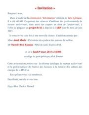 invitation 9 mars 2015