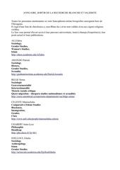 annuaire sortir de la recherche blanche et validiste