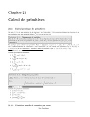 calcul primitive
