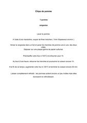 Fichier PDF chips de pomme