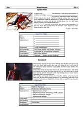 superheroes id worksheet a