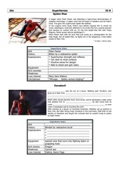 superheroes id worksheet b