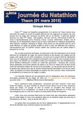 compte rendu 2eme etape natathlon thaon 01 mars 2015