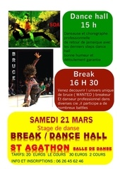 affiche stage dance hall et break soa et bruce 2