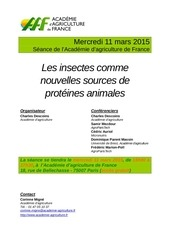 les insectes comme source de proteines