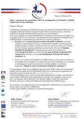 lettre officielle ffbs