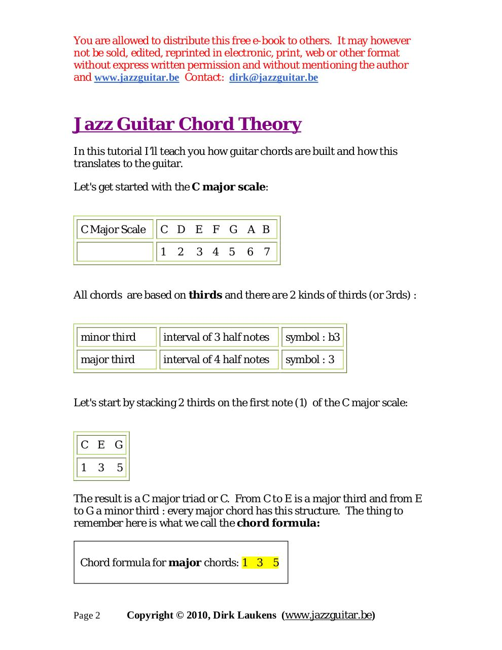 Jazz Guitar Chord Theory (part 1) - The Jazz Guitar Chords eBook pdf