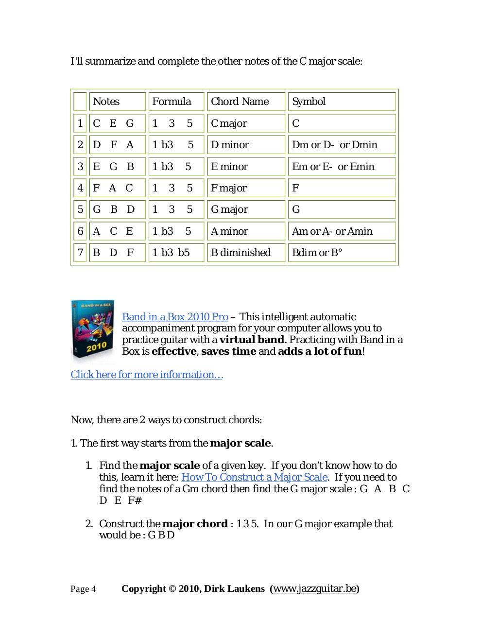 Jazz Guitar Chord Theory Part 1 The Jazz Guitar Chords Ebook Pdf