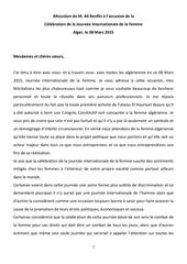 Fichier PDF allocution de m ali benflis a l occasion de la journee de la femme