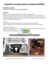 depannage frigo arc 4030 whirlpool