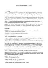 reglement cariole 2