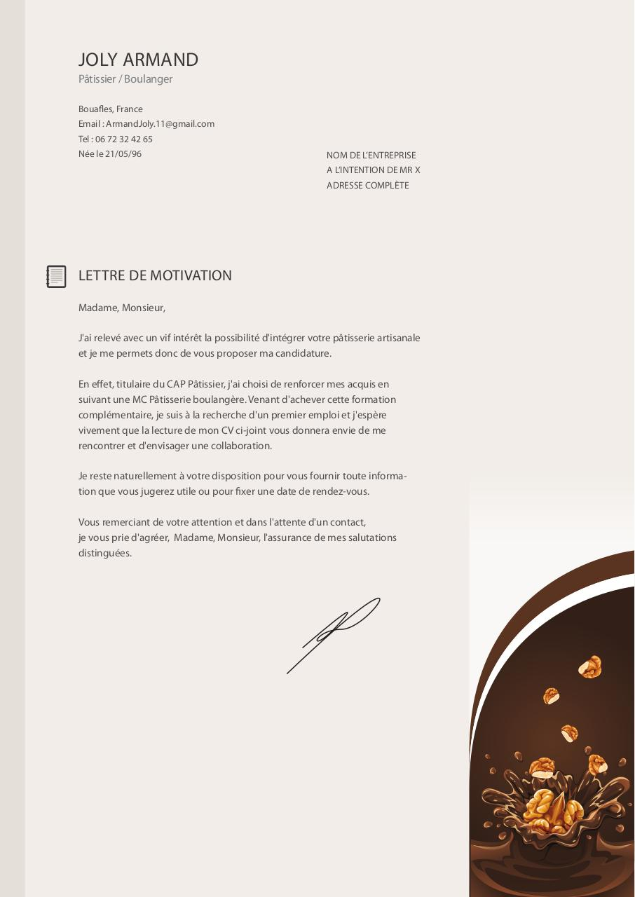 cv lettre de motivation armand  cv - lettre de motivation armand pdf
