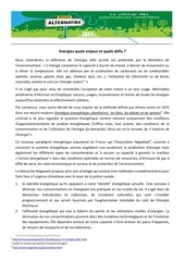 dossier de presse alternatiba 23 janvier