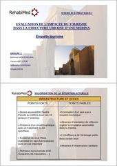 impact du tourisme sur la medina