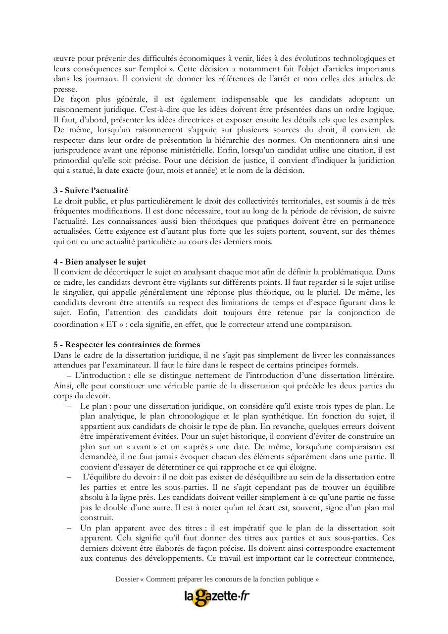 Dissertation juridique modle