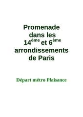 promenade dans les 14eme et 6eme arrondissements de paris