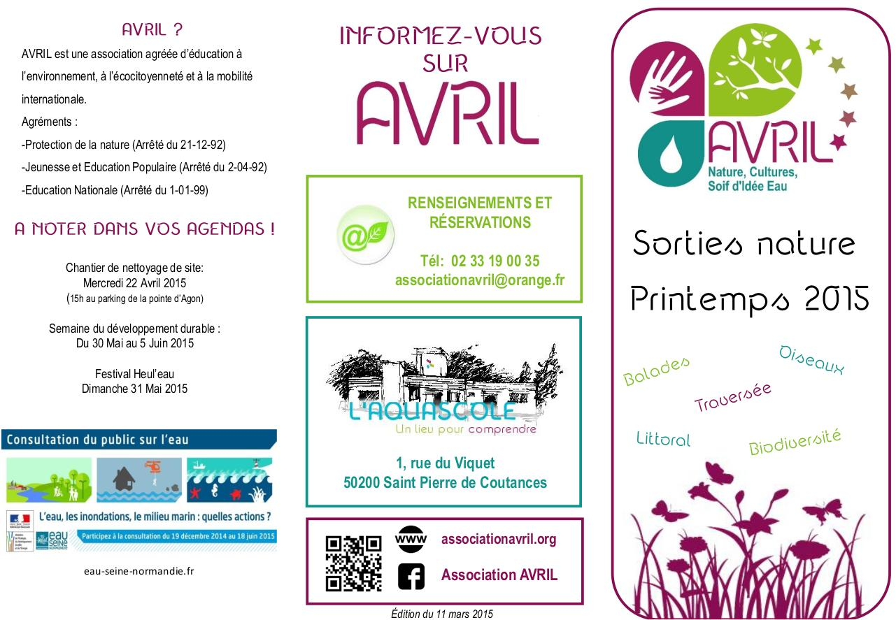 Aperçu du document 3 - Flyer Sorties Printemps 2015v3.pdf - page 1/2