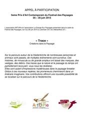 appel a participation 5eme prix fdp