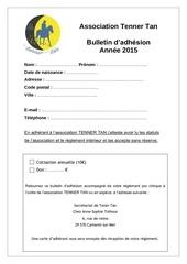 bulletin d adhesion tener tan 2015