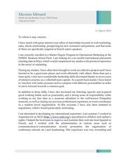 cover letter studentjob maxime menard