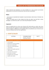Fichier PDF modele check list salon orange