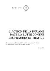 rapport action douane lutte fraude trafics 19 02 2015