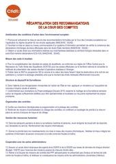 recapitulation des recommandations c c 11 03 2015