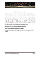volume 2 issue 1 call for papers