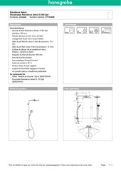 Fichier PDF 27133000 hansgrohe product specification 2014 11 29