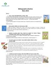 bibliographie selective sandrine montupet