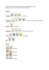 Fichier PDF liste stylisme homme