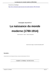 la naissance du monde moderne 1780 1914 a1712