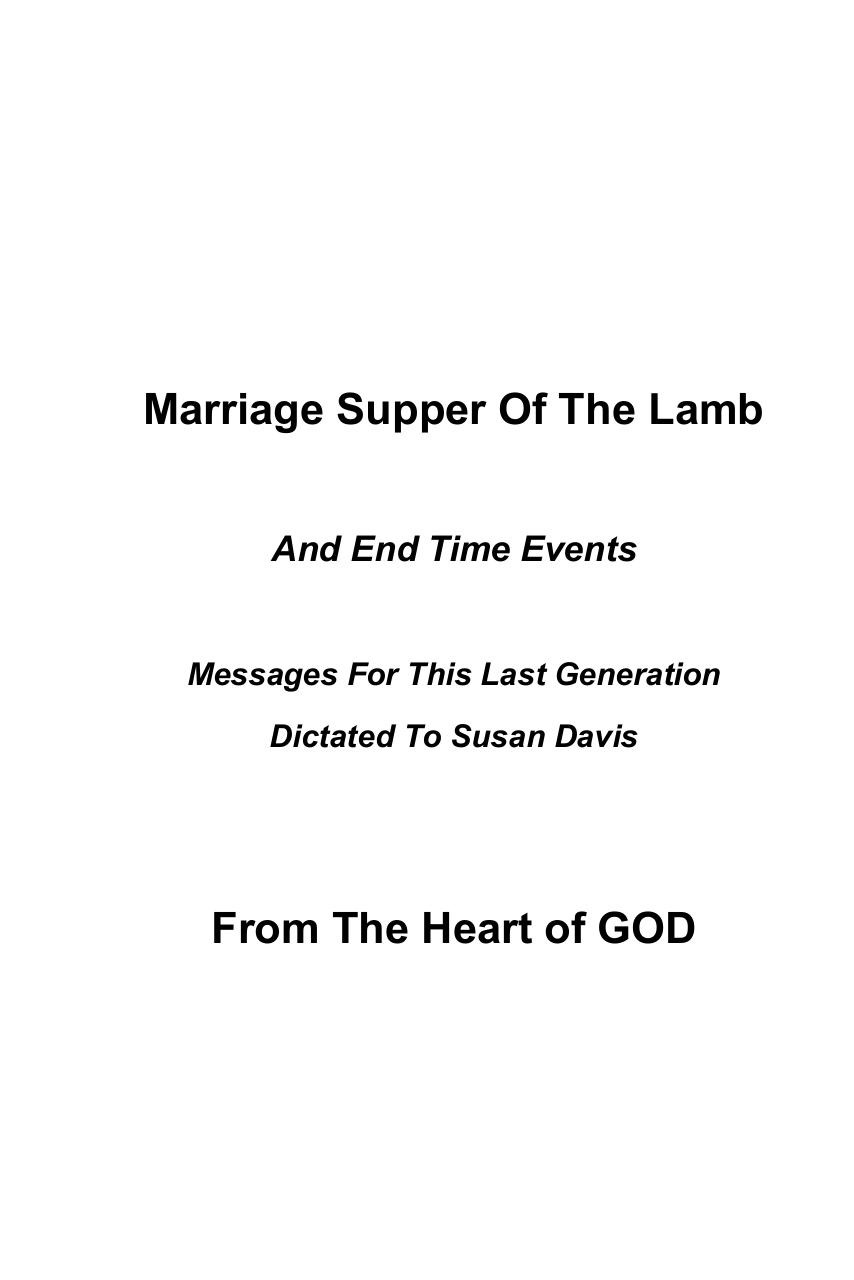 Marriage Supper Of The Lamb And End Time Events.pdf - page 1/151