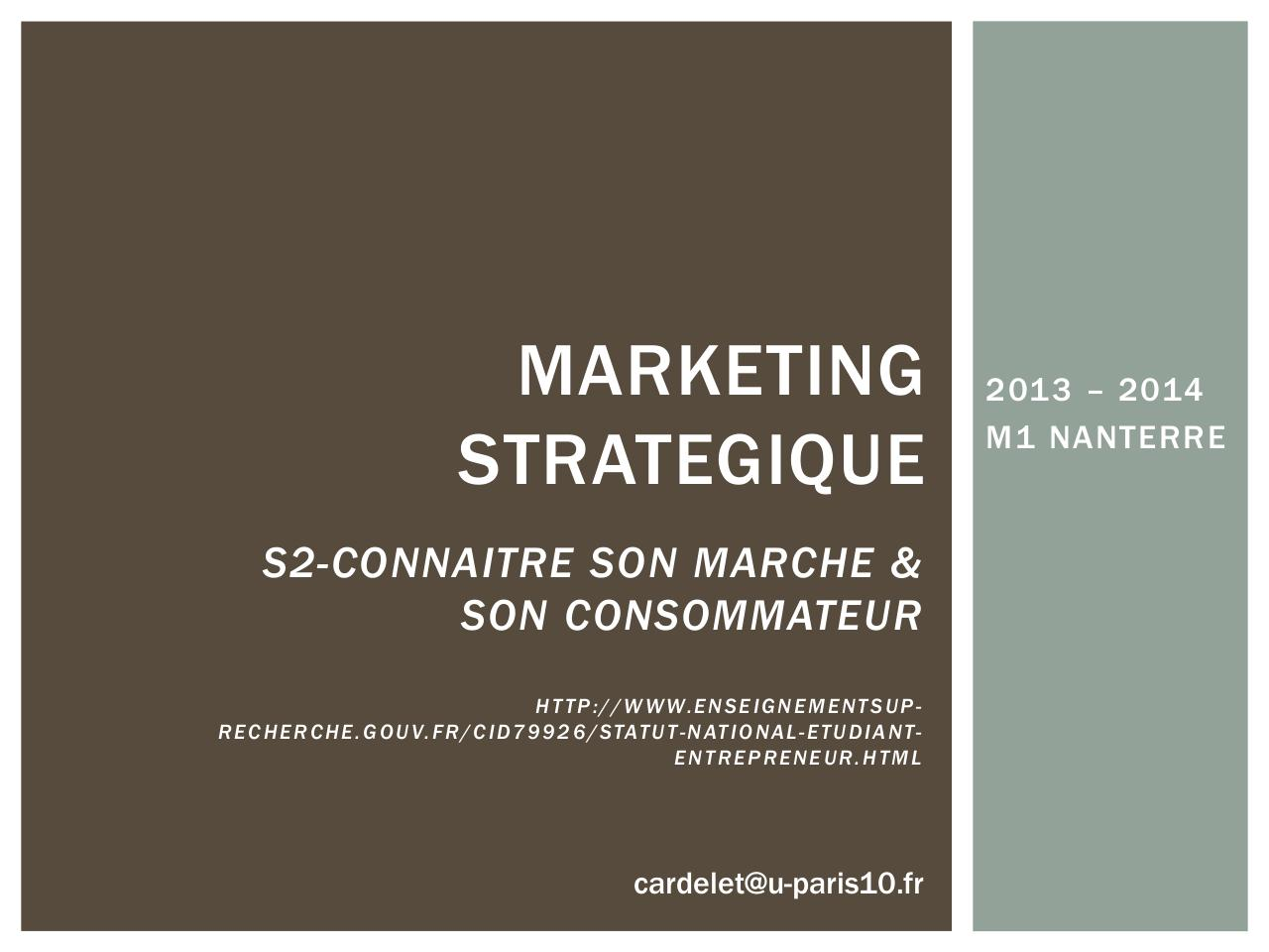 marketing strategique par caroline - resum u00e9 cours mkg strategique pdf