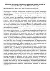 allocution de m ali benflis a l occasion de l installation de l instance nationale de preparation du congres constitutif de talaiou el houriyet