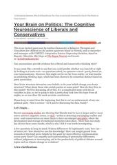conservateurs et liberaux