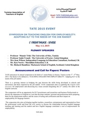 tate conference 2015 call for contributions