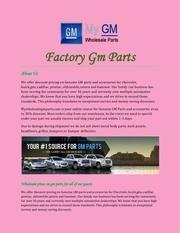 Fichier PDF factory gm parts