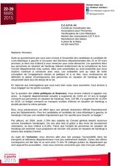 lettre ccaph