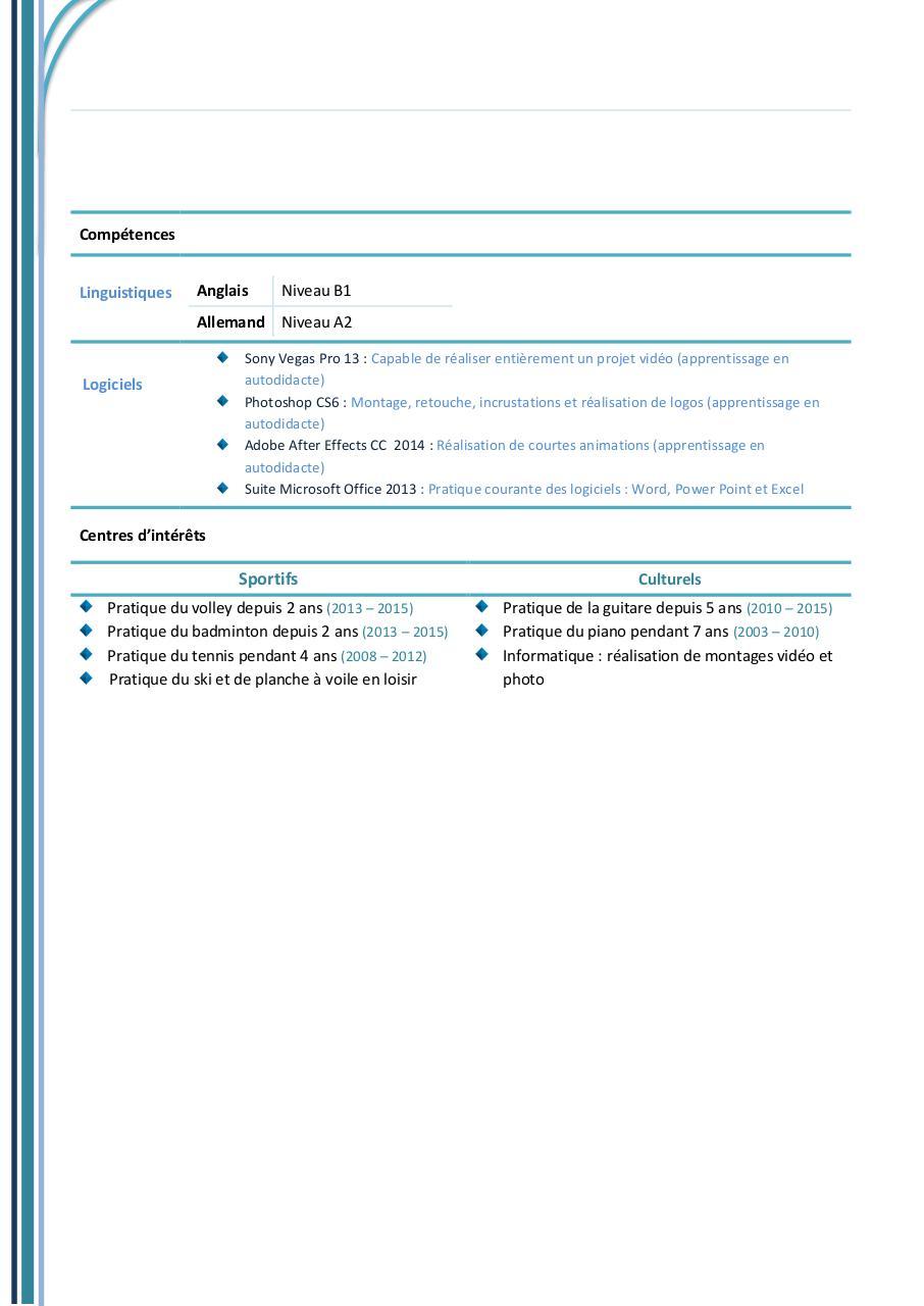 Solene lefebvre par solene cv baptiste version pdfpdf for Pdf document versions