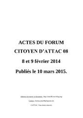 actes du forum citoyen des ardennes attac 08 10 03 2015