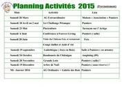planning activites 2015