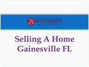 selling a home gainesville fl