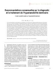 60 recommandations consensuelles sur le diagnostic