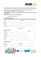 application form melange