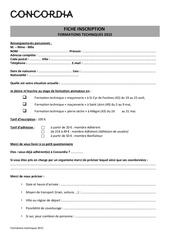 Fichier PDF fiche d inscription